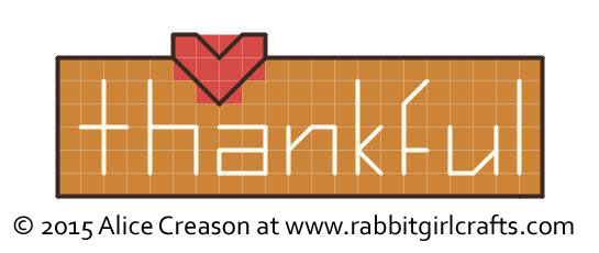 Thankful tiny cross-stitch chart
