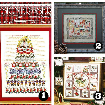 12 Days Of Christmas Cross Stitch.12 Days Of Christmas Patterns Rabbit Girl Crafts