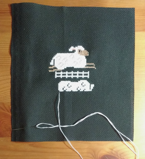 Prairie Schooler Vintage Eggs CrossStitch Sheep