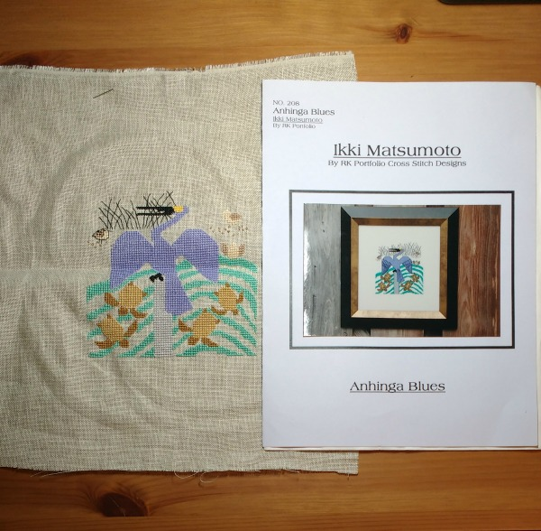 Anhinga Blues Cross-Stitch Design