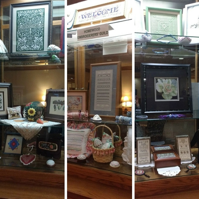Homewood Embroiderers Guild Spring 2016 Display