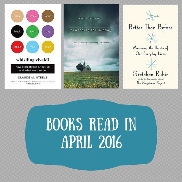 Books read in April 2016