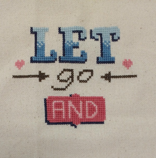 Let go and let God cross-stitch design