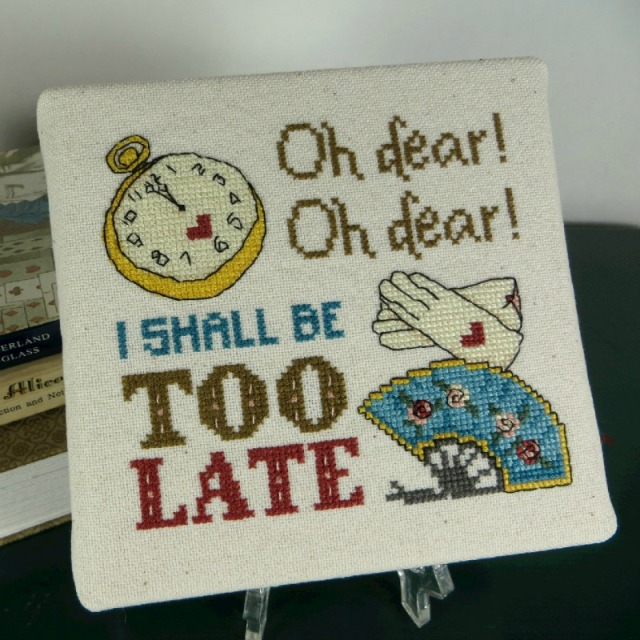 Alice in Wonderland White Rabbit I'm Late Cross-Stitch Pattern