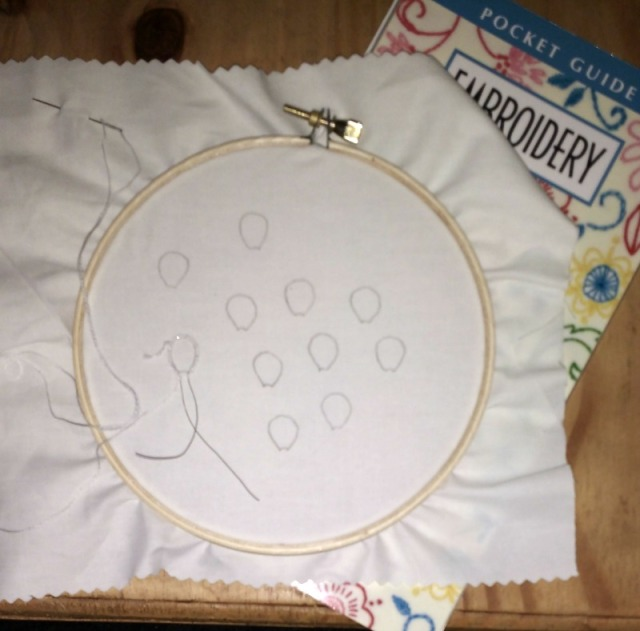 stumpwork embroidery project
