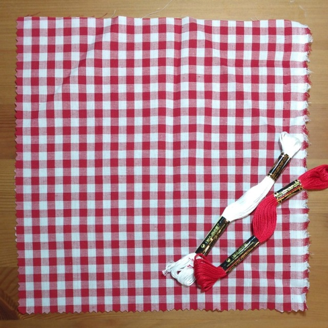 red gingham fabric