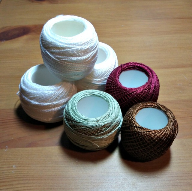 miscellaneous balls of cotton perle threads