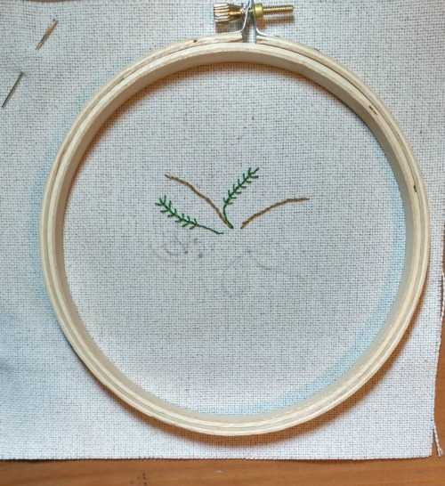 start-on-embroidered-background