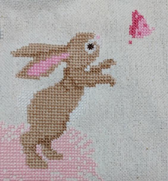 bunny cross-stitch