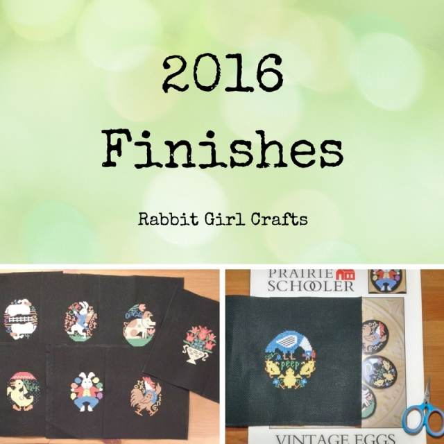 2016 cross-stitch finishes