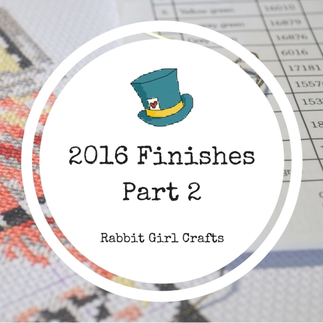 2016 Cross-Stitch Finishes Rabbit Girl Crafts