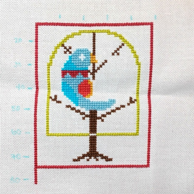 partridge cross-stitch