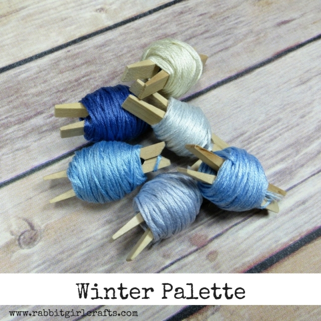 Winter Cross-Stitch Embroidery Color Palette
