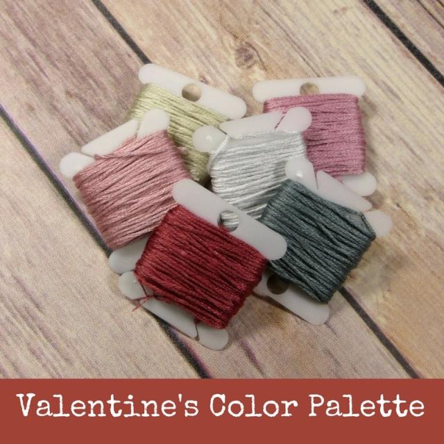 Vintage Valentine Stitching Color Palette