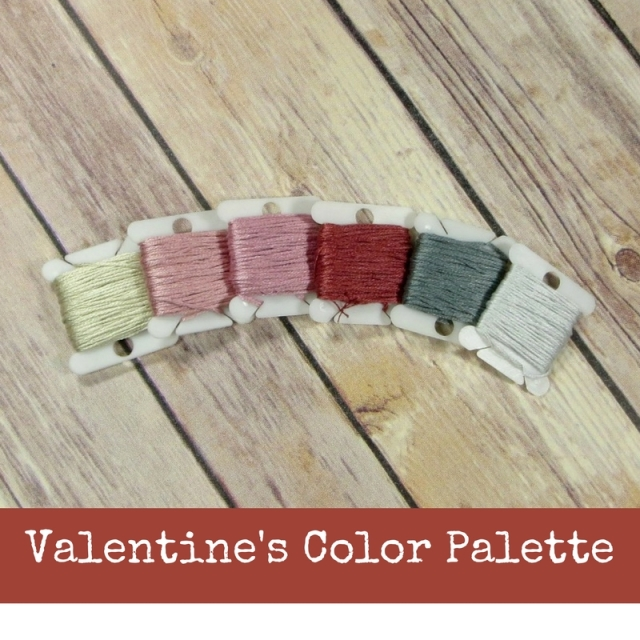 Vintage Love Valentine Color Palette for Stitchers