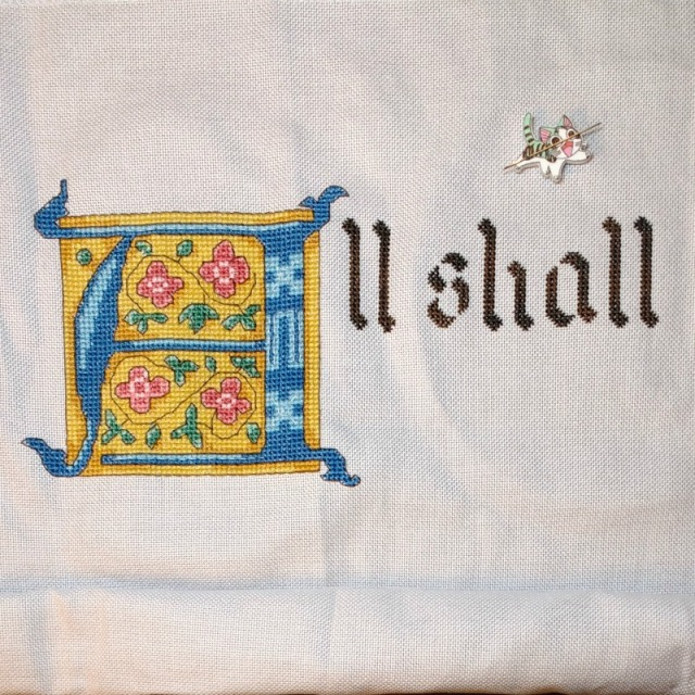 all shall be well cross-stitch progress