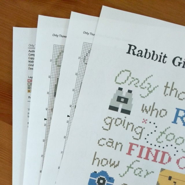 preview of only those who risk rabbit girl crafts cross-stitch pattern