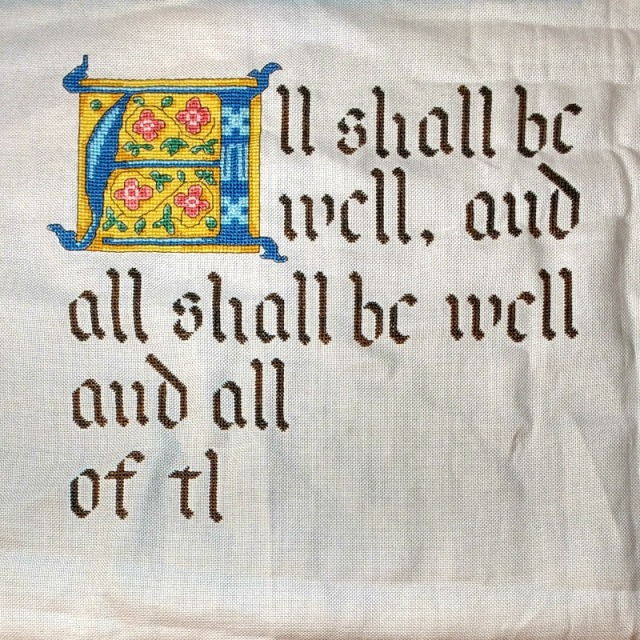 julian-of-norwich-cross-stitch-progress