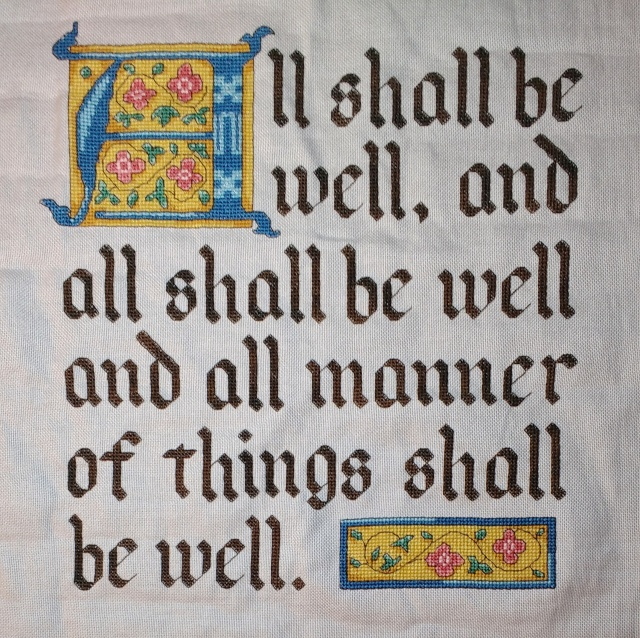 All Shall Be Well Julian of Norwich Cross-Stitch Pattern