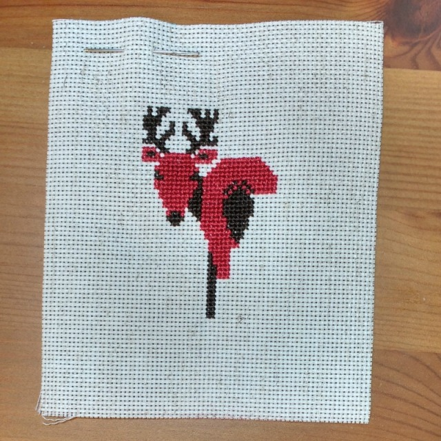 deer-crossstitch-ornament-progress