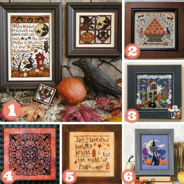 Halloween-CrossStitch-Designs-Collage