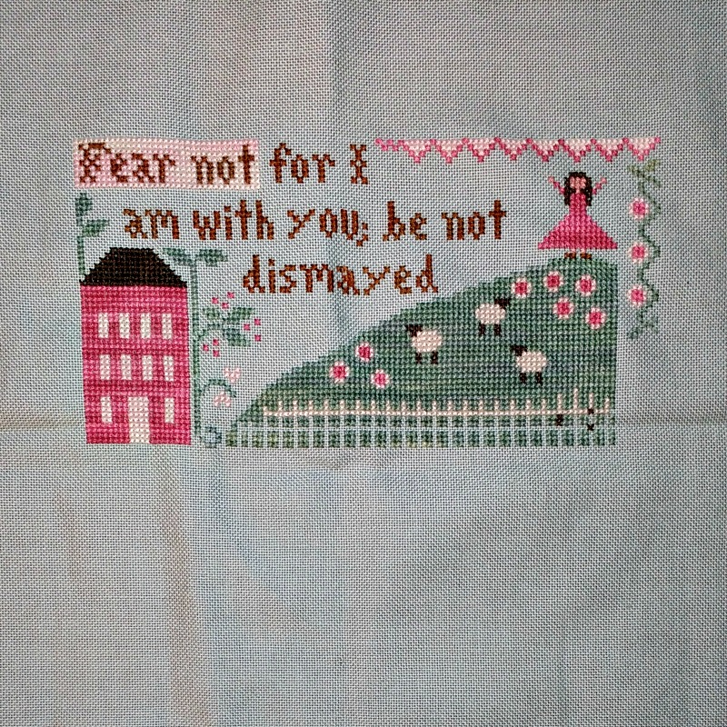 Fear Not cross-stitch pattern by Little House Needleworks