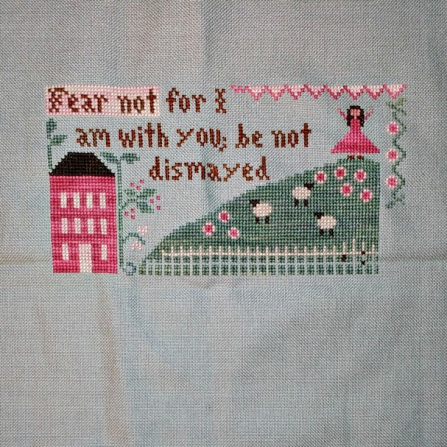Fear Not cross-stitch pattern by Little House Needleworks